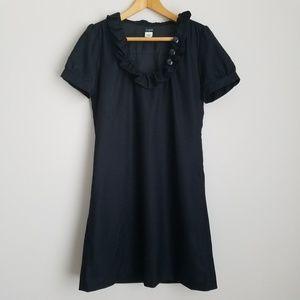 J. Crew   Wool Ruffle Button Neck Shift Dress 4